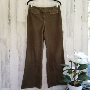 Loft Greenish Brown Wide Leg Cords